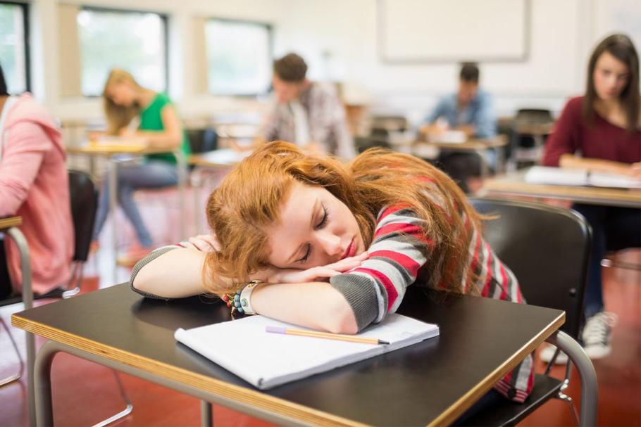 sleep on the desk